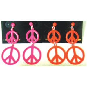70s Neon Peace Earrings