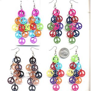 Peace Chandelier Earrings