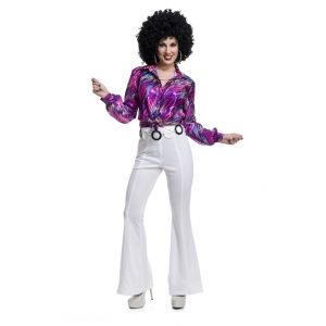 Women's White Disco Pants