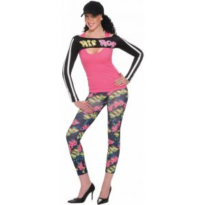 90's Hip Hop Leggings with Shrug Costume