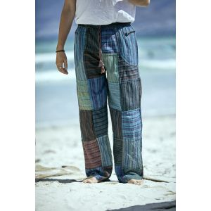 Men's 70s Patchwork Pants