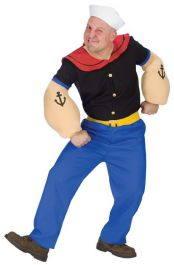 Fun World 2T Infant Toddler Popeye Costume-FW102721_L ...  |Popeye Zombie Costumes
